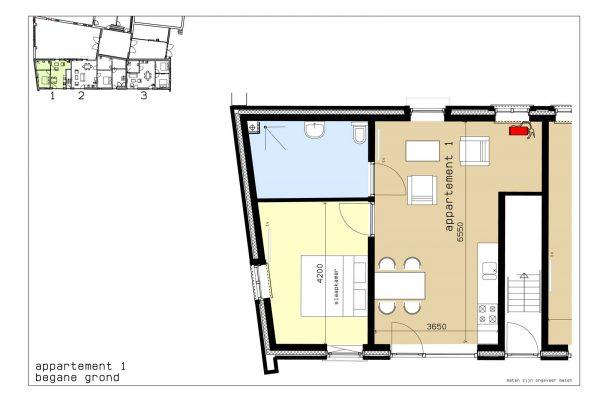 plattegrond appartement 1