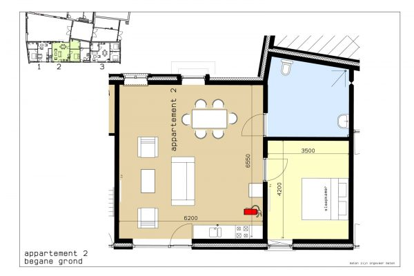 plattegrond appartement 2