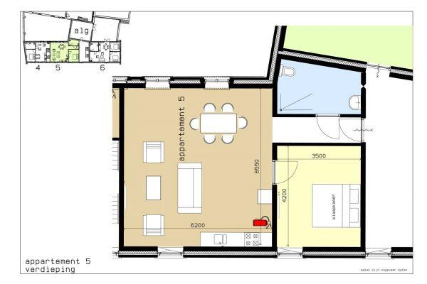 plattegrond appartement 5