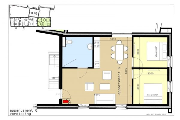 plattegrond appartement 6